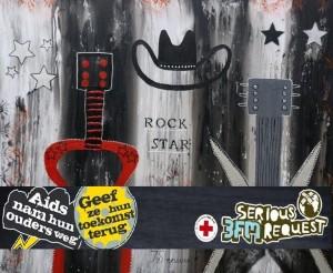 """Schilderij """"Rock Star"""" veilingitem 3FM Serious Request 2010"""