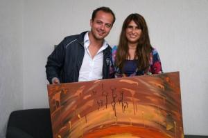 Geert Hoes en zijn Jessie's Artwork (de Desert Sunrise)