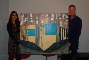 Jochem van Gelder met zijn Jessie's Artwork (de Chocolate Valley)