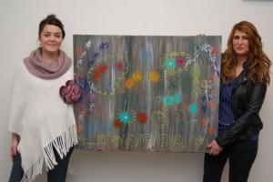 Kim-Lian van der Meij met haar Jessie's Artwork (de Wild Flowers)