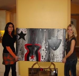 Vivian Reijs met haar Jessie's Artwork ( de Rock Star)