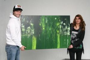Jan Kooijman met zijn Jessie's Artwork (de Tropical Green)