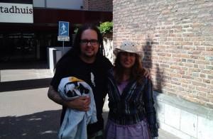 zanger Jonathan Davis van de Amerikaanse metalband Korn en Jessica van Sleeuwen