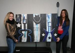 Zangeres/songwriter Krystl en haar Jessie's Artwork (de Rock Star)